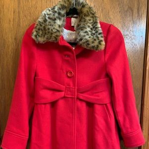 Kate Spade Kids Large Trench coat removable collar